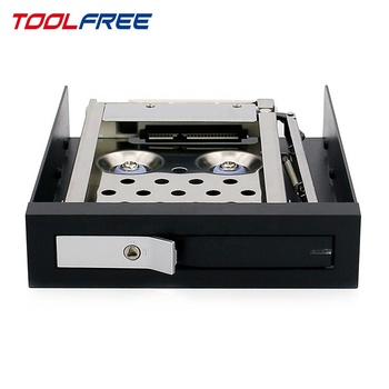 TOOLFREE di Antiurto 2.5 pollice Mobile Rack Trayless SATA/SAS 6g 7 ~ 9.5mm SSD/Hdd caso