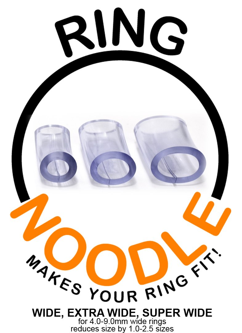 RING NOODLE: Ring Size Reducer | Ring Guard | Ring Size Adjuster. Size: 1 Wide, 1 Extra Wide, 1 Super Wide, for rings 4.0-9.0 mm wide.