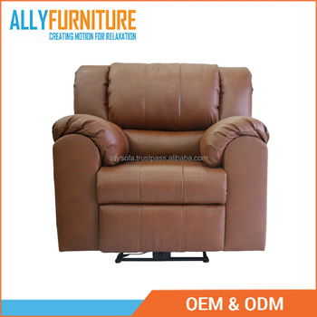 Luxury Leather Automatic Recliner Sofa Single Chair 100 Pvc With Modern Motion Furniture Design