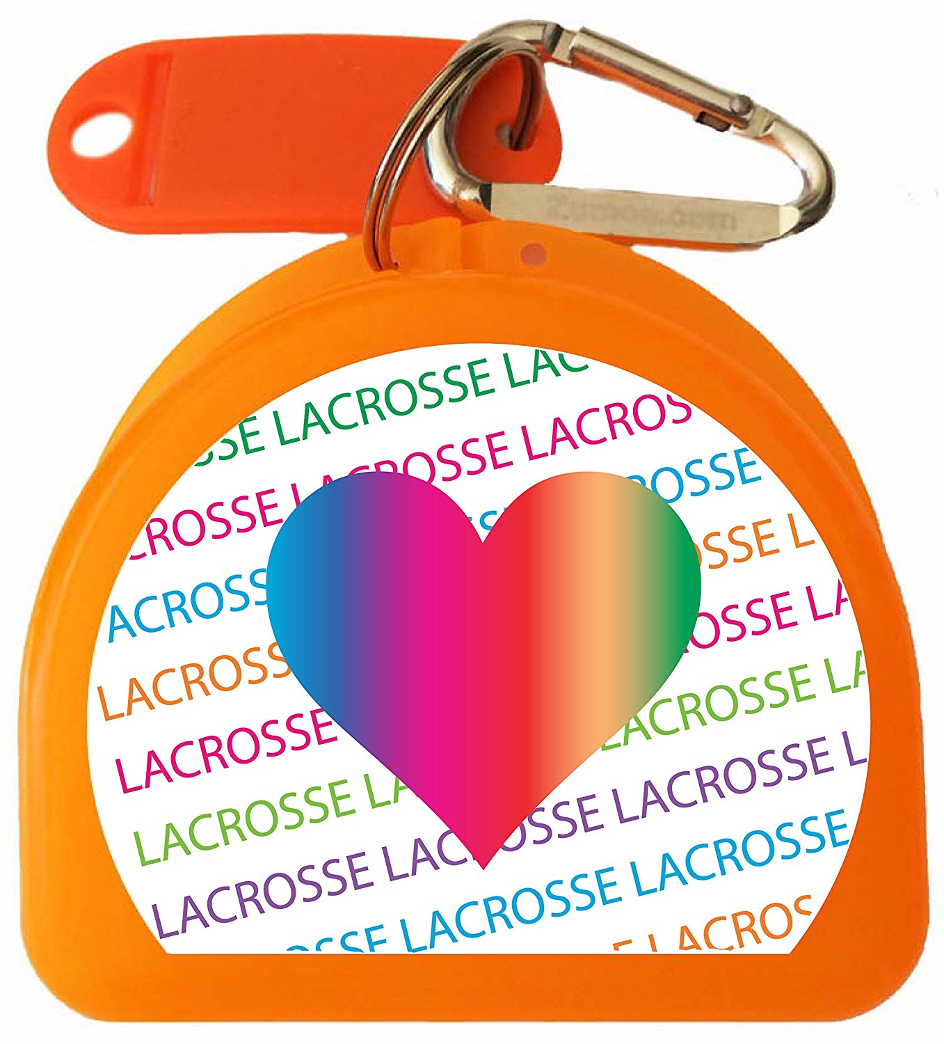 Zumoe Lacrosse Mouth Guard Case Lacrosse Mouthguard Case Lacrosse Retainer Case or Lacrosse Dental Case Called LAX, over 50 Designs and 9 Colored Cases Available
