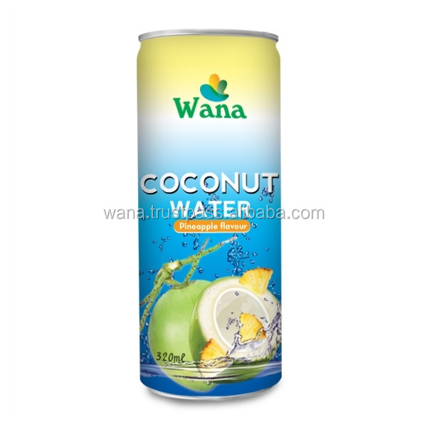 Vietnam Frozen Bulk Coconut Water With Pineapple Flavor 320ml