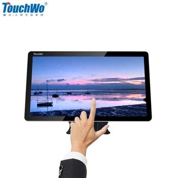 "wall hanging LCD display panel mini pc 21"" touch all in one computer with USB for windows10"