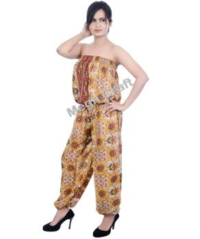 0a8c28792e7 Yoga jumpsuit - Indian Harem Jumpsuit- Boho Romper jumpsuits - Hippie Style  jumpsuits - Indo