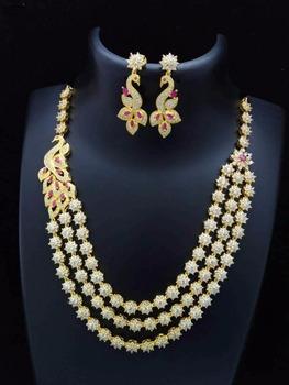 cz necklace artificial american diamond jewellery zircon jewellery