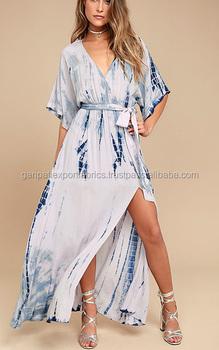 535af8d5c0 Sexy Summer's Beachwear Long Maxi Tie & Dye Kaftan Dress For Womens ...