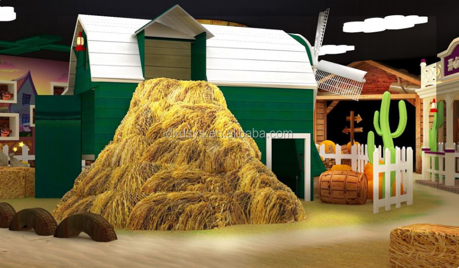 Western Farm theme design for the indoor kids playground