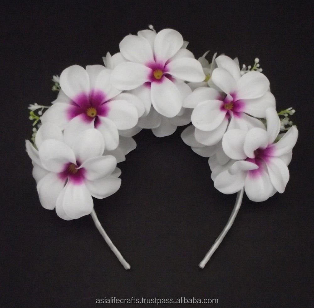 Hawaiian flower crown wholesale flower crown suppliers alibaba izmirmasajfo Image collections
