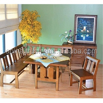 Wooden Dining Table Chair And Bench With Backrest 6 Seats Hdt 86 105 Hdc 86 Hdc 86b Hdc 86c Buy Wooden Dining Table Wooden Bench Wooden Chair