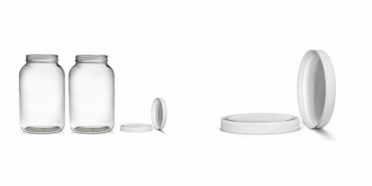 1 Gallon Glass Jar Wide Mouth With Airtight Plastic Lid Dishwasher