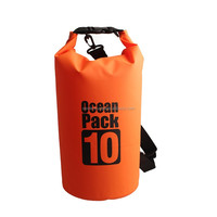 Customized logo 500D PVC Outdoor Promotional Waterproof Dry Bag, 10L Dry Bag