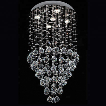 Wrought Metal Energy Saving Chandelier Crystal Large with Dimmable