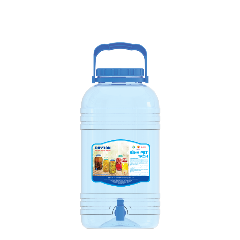 HOT SALES ROUND plastic water bottle PET bottle 10L 15L 20L with handle in Vietnam cheap price good quality