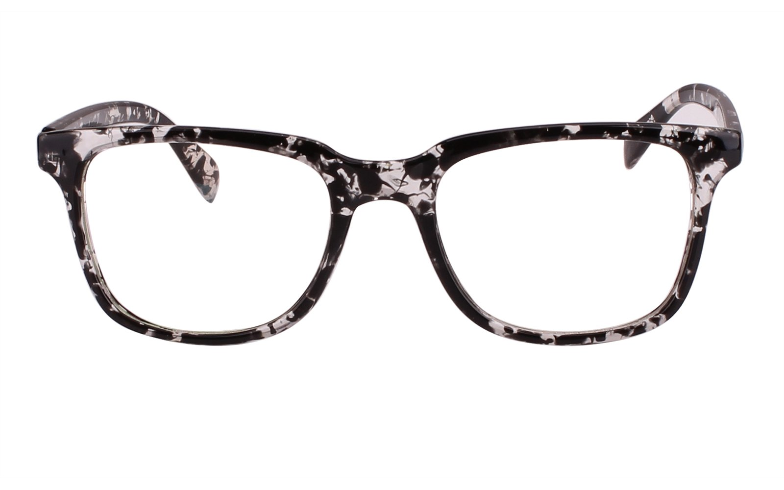 7f5df9ac39e Get Quotations · Agstum Wayfarer Plain Glasses Frame Eyeglasses Clear Lens