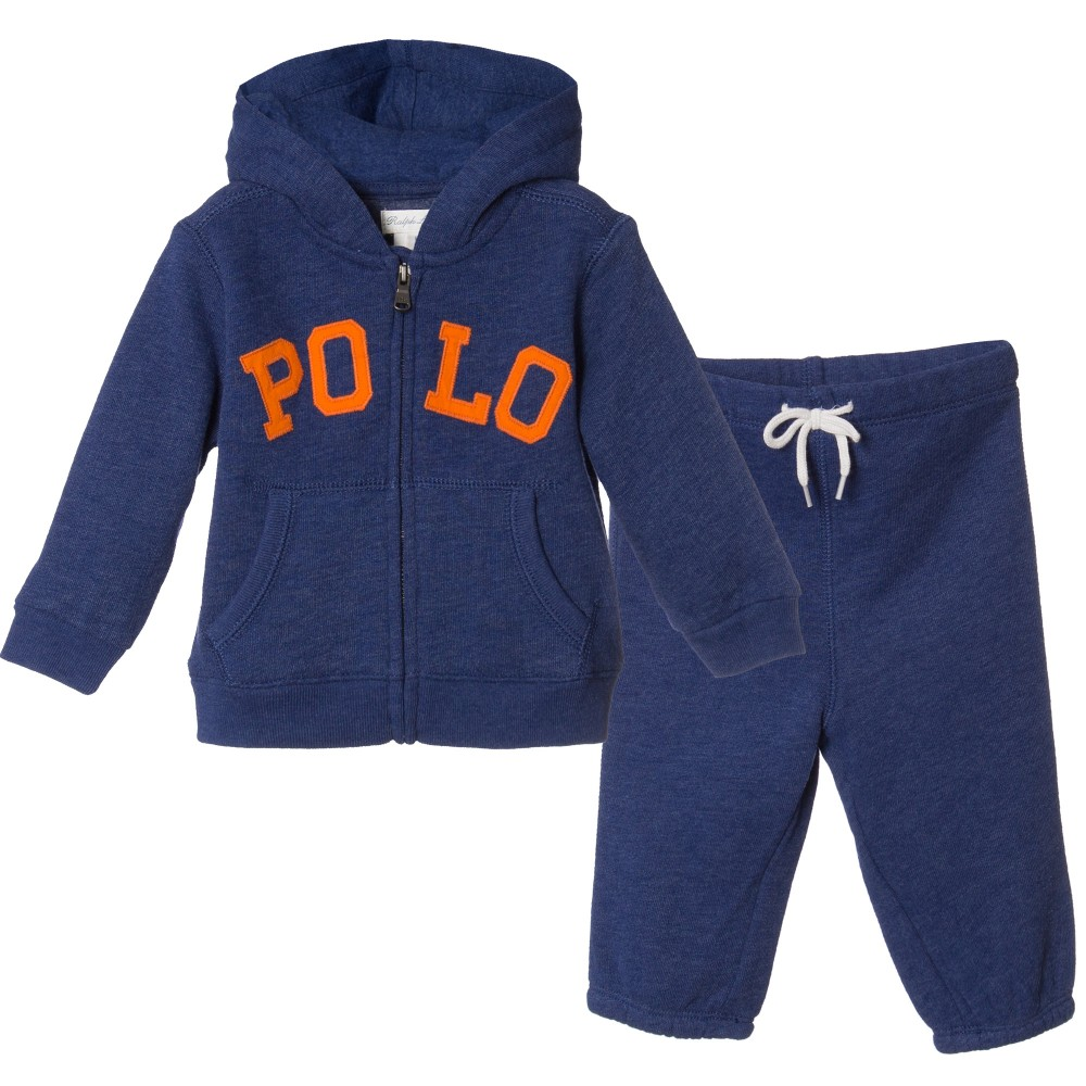 Children's Clothing Sets Polo baby boys blue hoodie children tracksuit