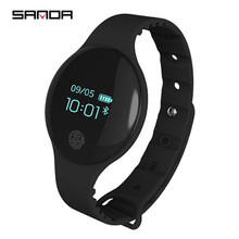 2018 Hot Sanda Touch Screen Smart Horloge Wekker Armband Bluetooth IOS Android Camera Remote <span class=keywords><strong>Caller</strong></span> ID IP65 Waterdicht