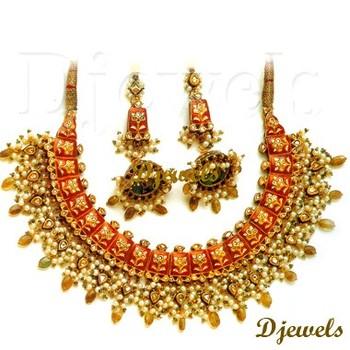 Jaipur Kundan Necklace Sets22k Gold Kundan Necklace SetsKundan