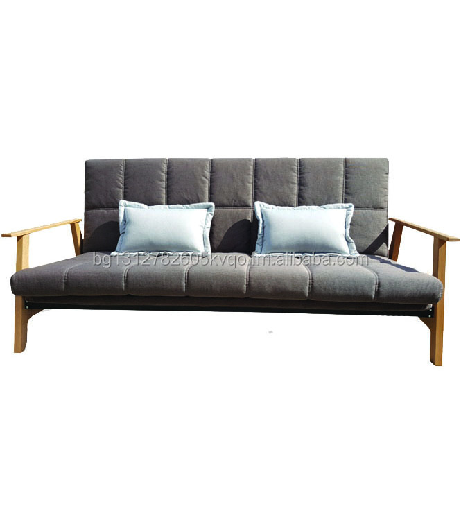 Click Clack Sofa Bed With Wooden Armrests Mechanism 3 Seater Product On Alibaba