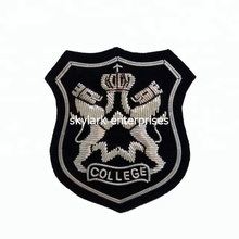 Collage blazer Pocket Embroidered patch Bullion Wire Embroidered Crest Badges