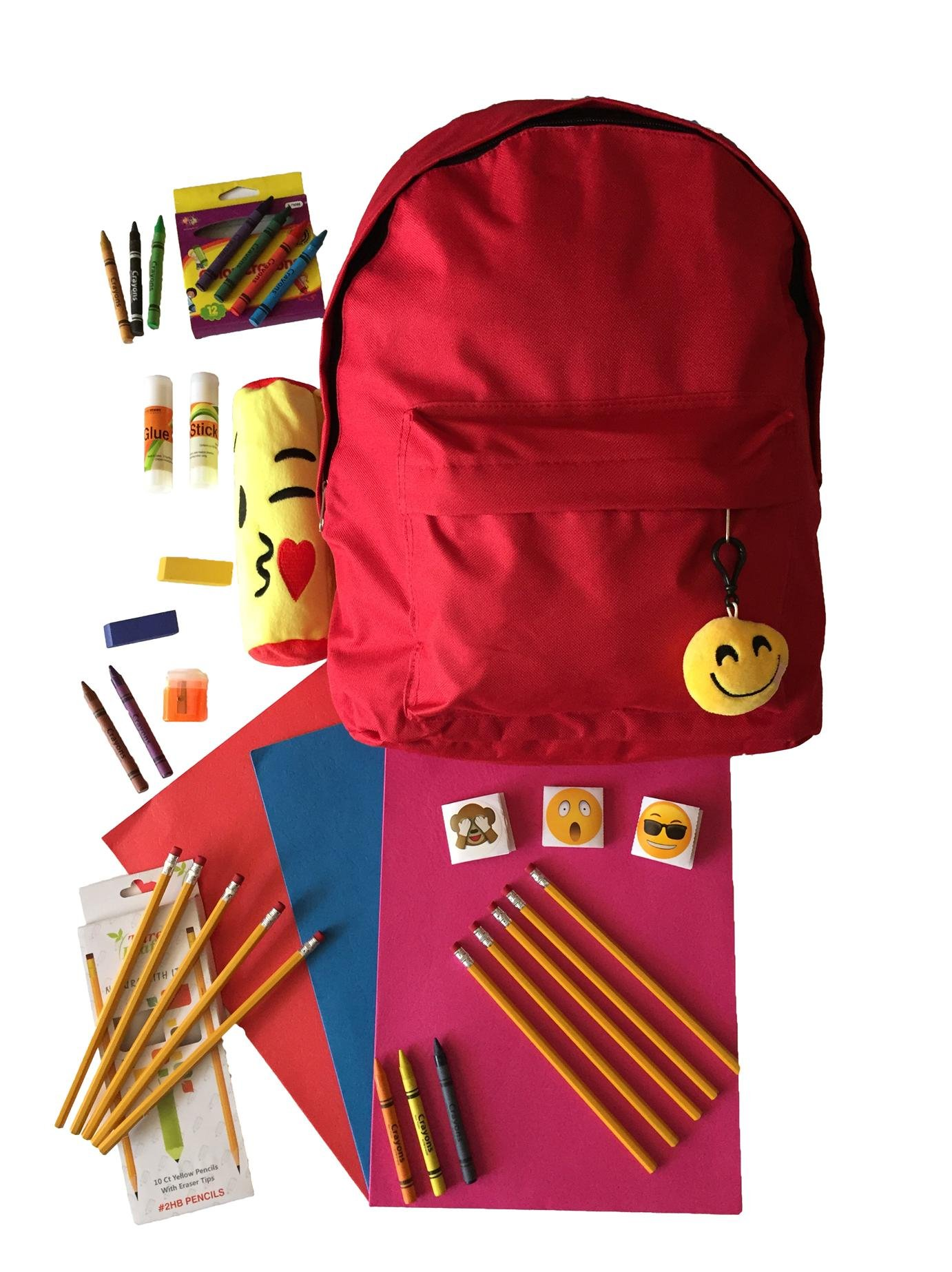 Back to School Supplies for Girls Boys-Cool Emoji Bundle-Stuff for Elementary Needs All In One Box Kit