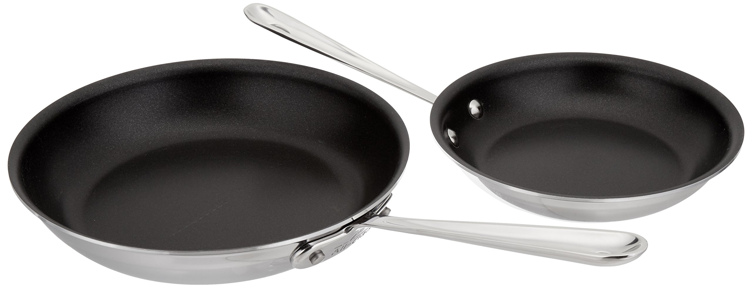 8-Inch Silver All-Clad BD55108NSR2 D5 Brushed 18//10 Stainless Steel 5-Ply Bonded Dishwasher Safe Nonstick Fry Pan Saute Pan Cookware