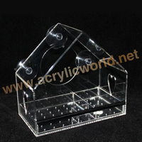 Window Mount Clear Acrylic Bird House Feeder With Suction Cups