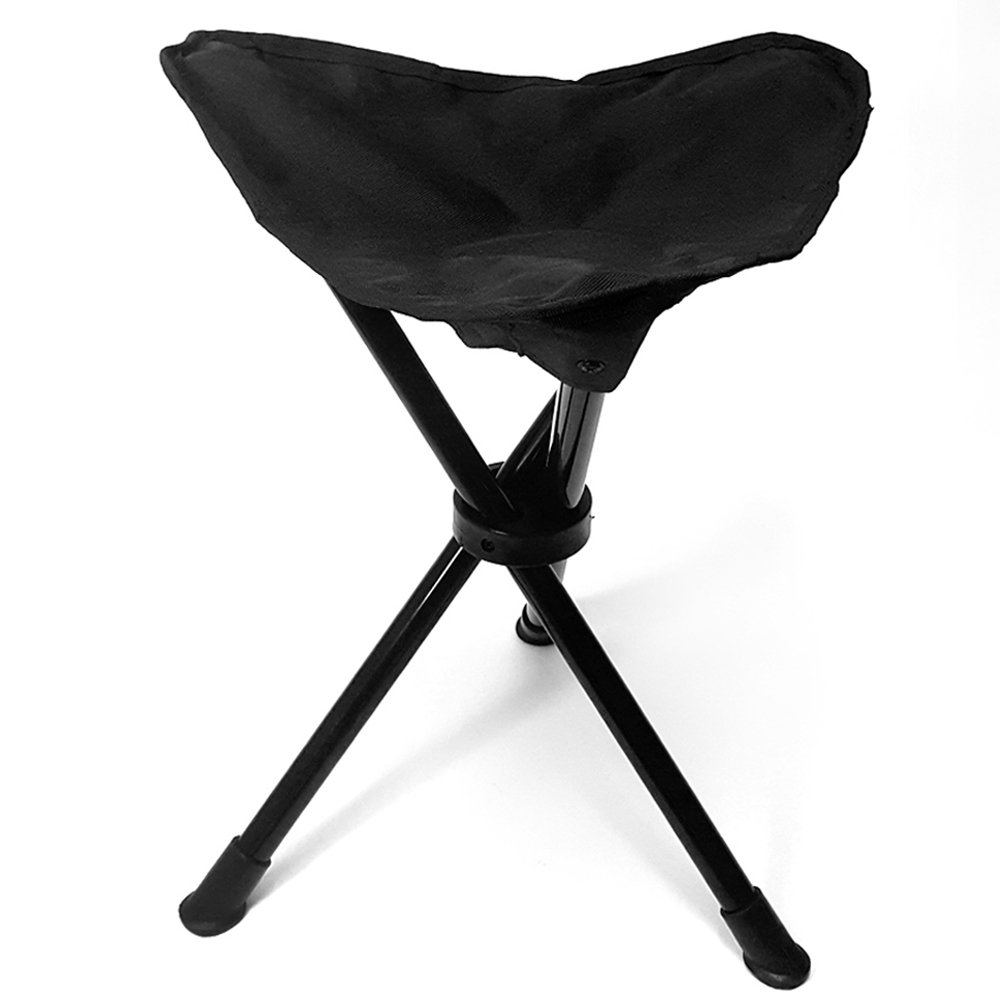New Portable Tripod Stool Folding Chair With Carrying Case Outdoor Camping Hunting Picnic Lightweight 3 Legs Tripod Stool Seat Furniture Outdoor Furniture
