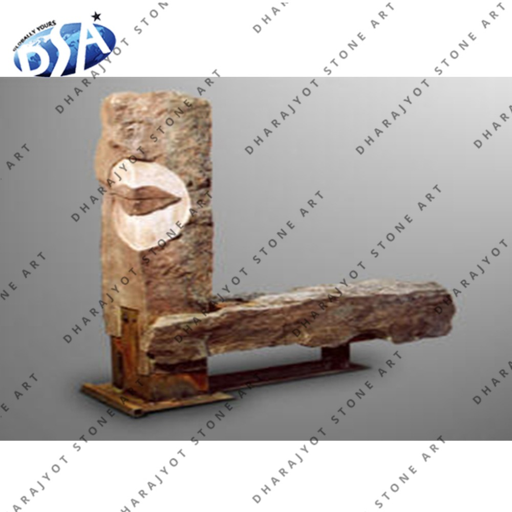 chinese sandstone natural BEIGE marble bench