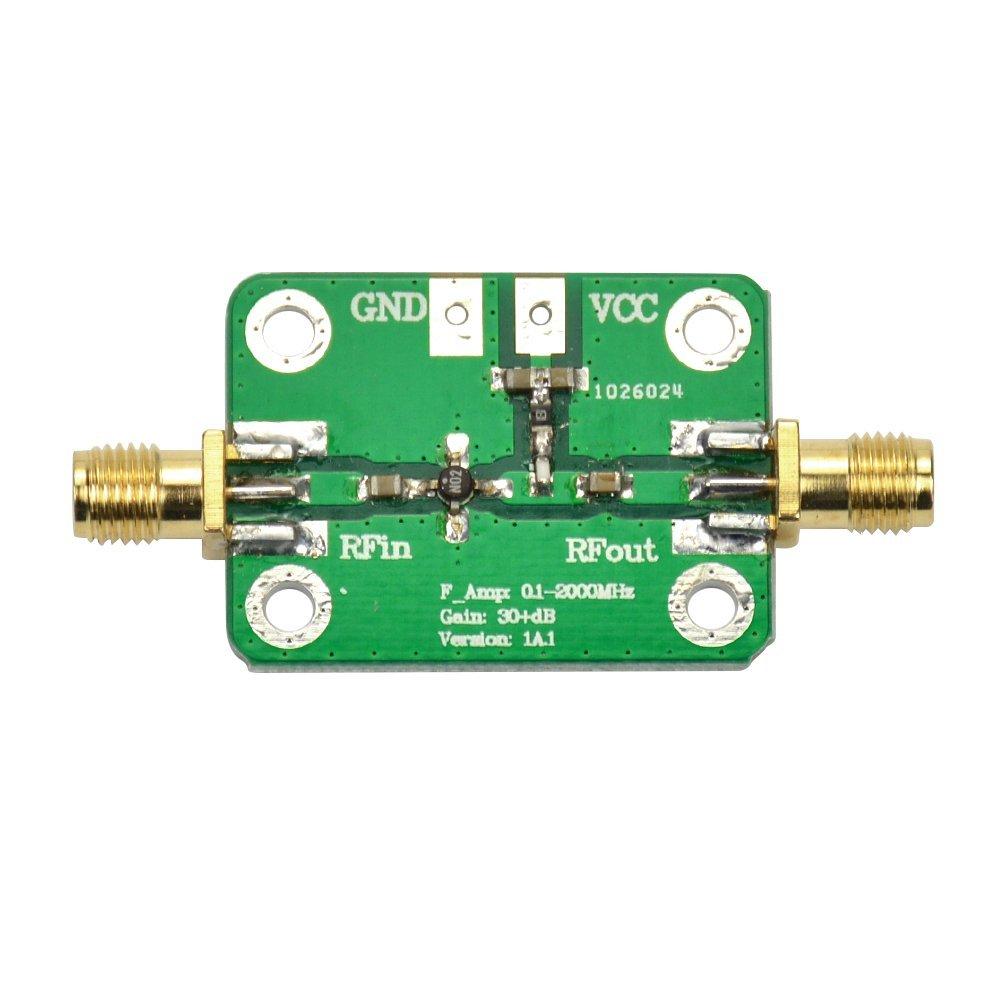 Aoshike DC6-12 V Low Noise RF LNA Broadband Receiver Amplifier Signal Amplifier Module Gain 0.1-2000MHz 30dB