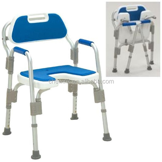Height Adjustable Fold Bathroom Chair Toilet Stool Buy For Disable Tool Shower Tool Health Care Tool Product On Alibaba Com