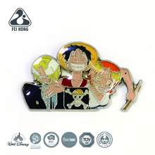 Open design anime cartoon one piece pin <span class=keywords><strong>abzeichen</strong></span>