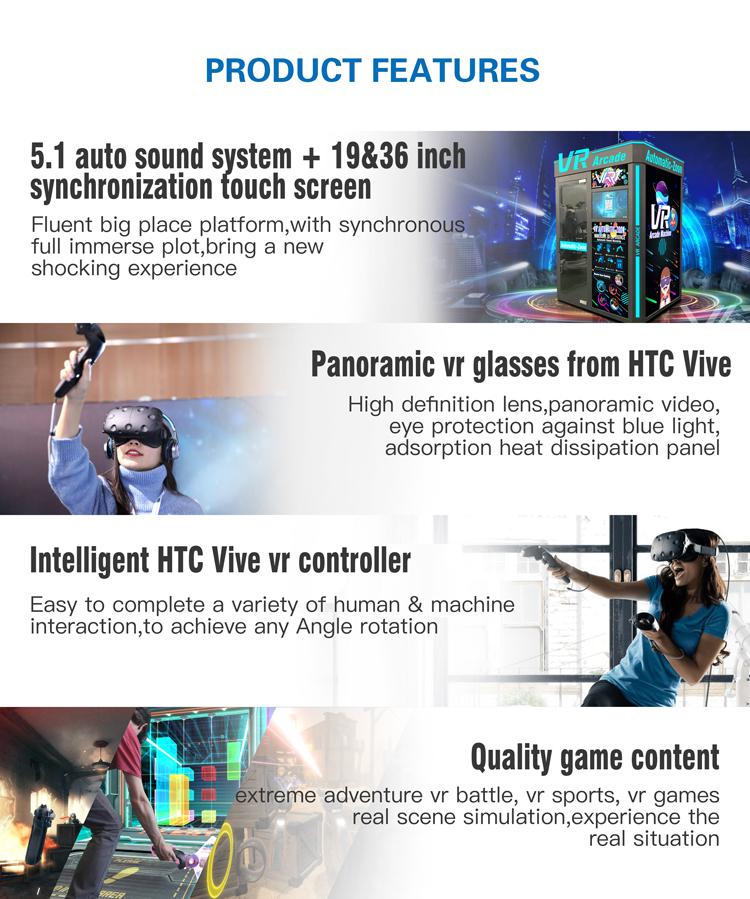 ماكينة صالة الألعاب VART Play Station VR للواقع الافتراضي 12 d سينما تعمل بعملة معدنية