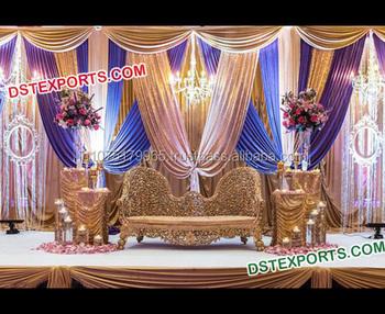 Muslim Walima Stage Decorations Night Wedding Reception Stage Set
