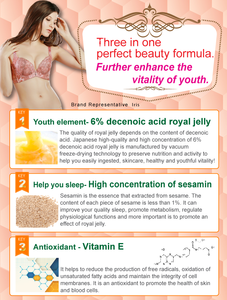 Feminine Care Sesamin Royal Jelly Tablets