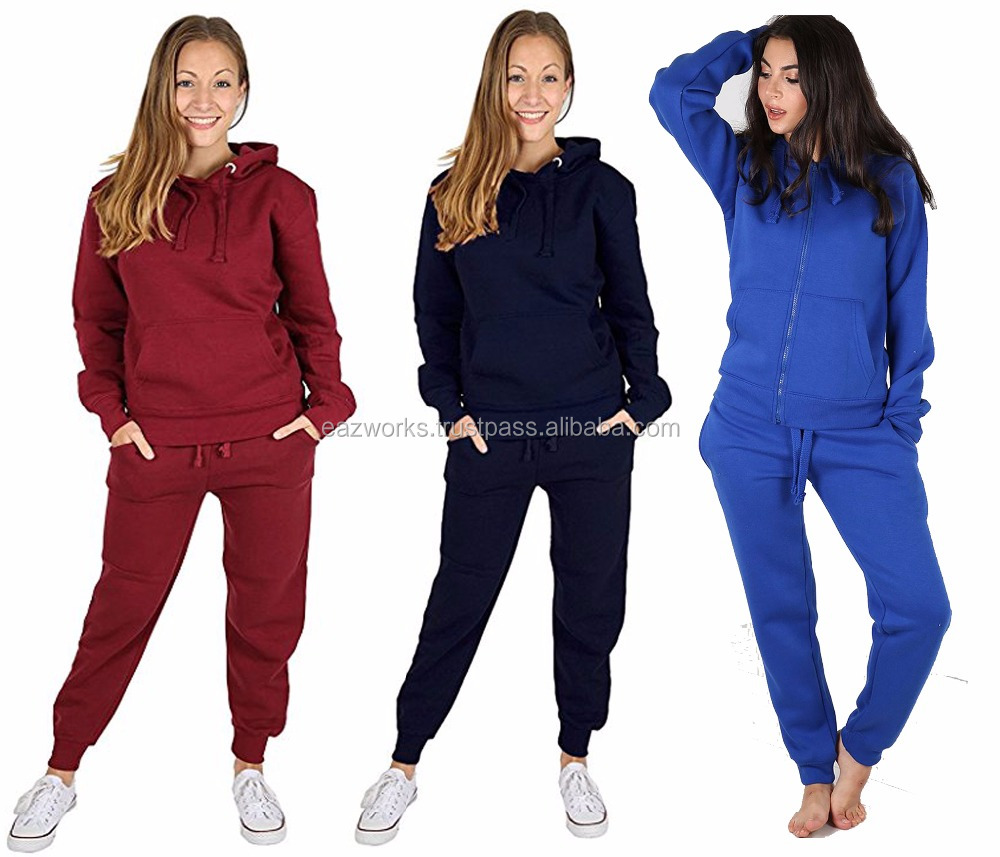 0b524e0436 Custom Wholesale Tracksuits 2018 Fleece Tracksuit 100% Cotton Fleece Ladies  Tracksuits - Buy Ladies Tracksuits,Ladies Tracksuit,Casual Wear Sweatsuit  ...