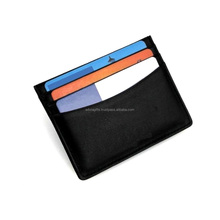 Christmas Gift Genuine Real Smooth Plain Leather Card Holder Card Case