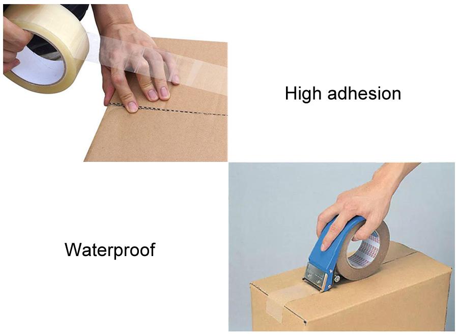 גבוהה הידבקות מותאם אישית לוגו מודפס Bopp אריזה קלטת/BOpp אריזת קלטת