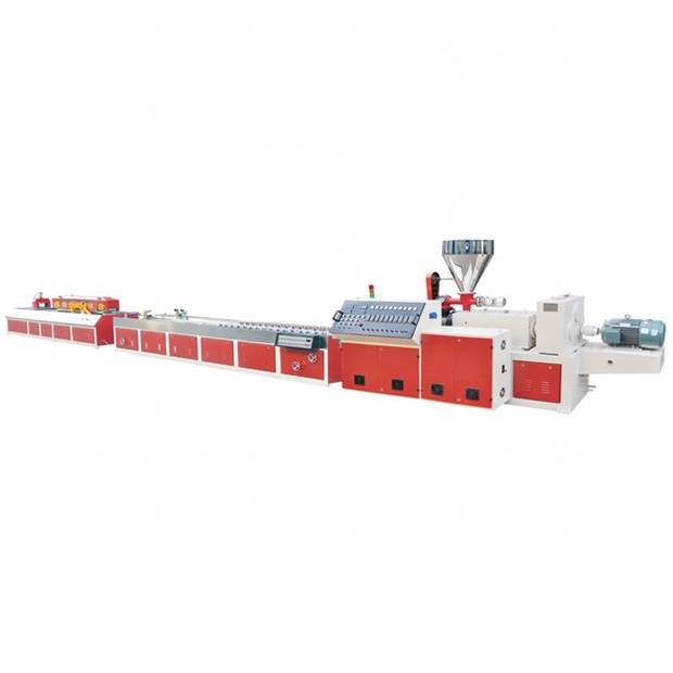 Soft Edge PVC Baseboard Profile Extrusion Machine With CE