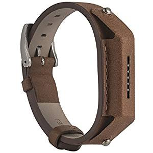 QGHXO Leather Band for Fitbit Flex 2, Replacement Leather Watch Band Strap for Fitbit Flex 2 (No Tracker)