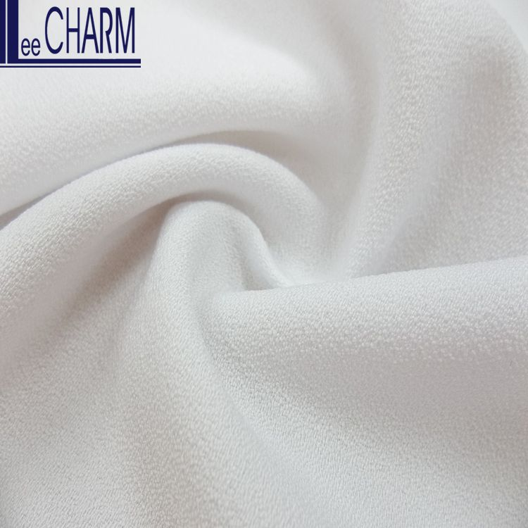 LCYF018 Taiwan 100% Polyester Soft Pure Stretch Moss Crepe Fabric