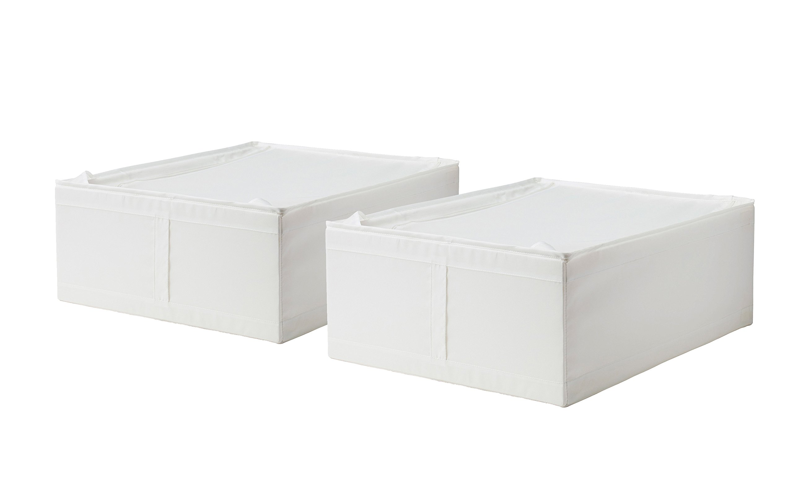 Get Quotations · Ikea Storage Underbed Box Closet Zippered (2 Pack) White
