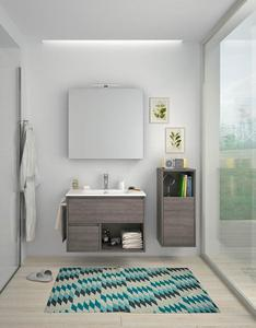 Best Price High Quality Walnut Bathroom Vanity And Tall Cabinet