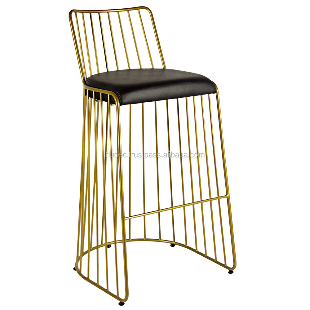 Rose Gold Bar Stool For Fast Food Maintenance I Economic