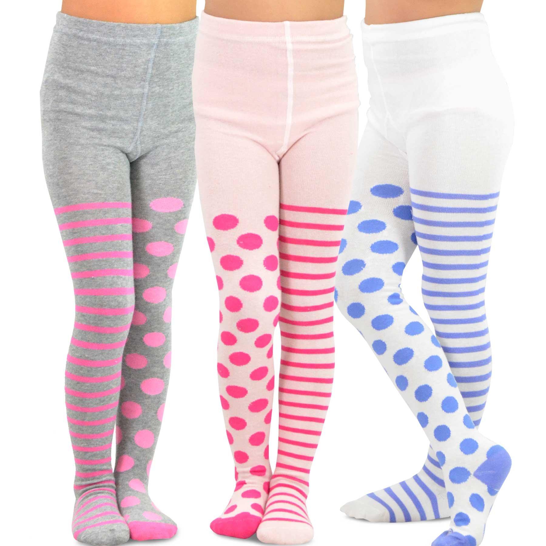 22c34b26ef6f2 Get Quotations · TeeHee (Naartjie) Kids Girls Fashion Cotton Tights 3 Pair  Pack