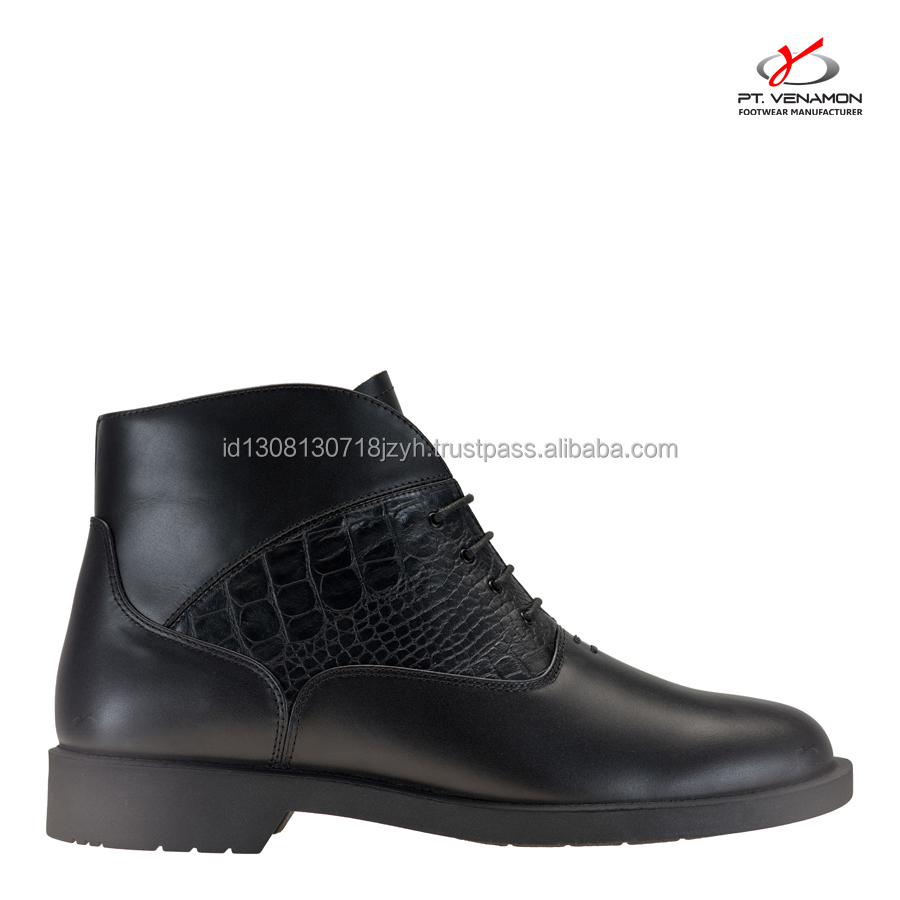 Leather men shoes Norman Dress Elegant Genuine for 5xTUwU