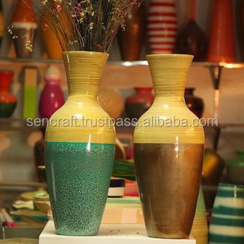 Bamboo Lacquer Vase Home Decor