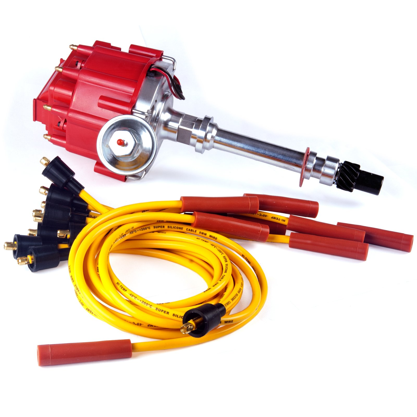 Cheap Gm Ignition Distributor 1103782 Find Dis Coil Wiring Get Quotations Brand New Compatible W Cap Rotor And Spark Plug Wires Combo