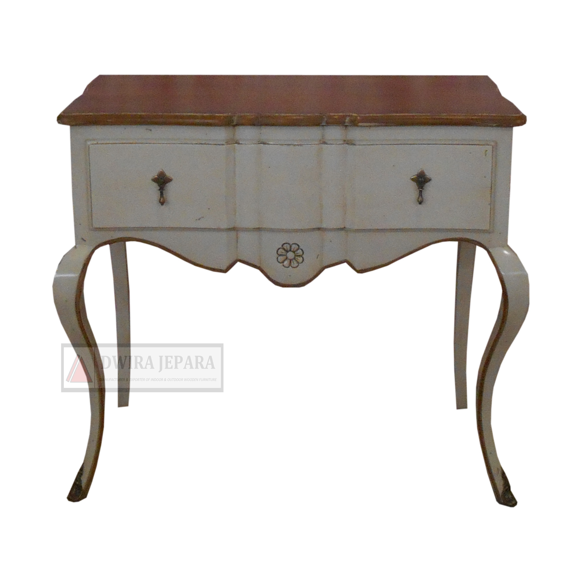 French Shabby Chic Wooden Console Table Furniture For Living Room