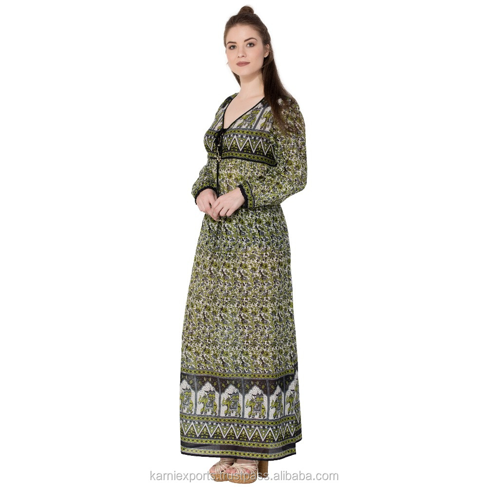 jaipur made cotton best women's maxi gown