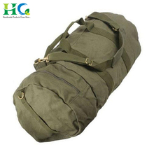 Custom Barrel Shape Heavy Canvas Duffel Gym Sports Bag for Man and Woman
