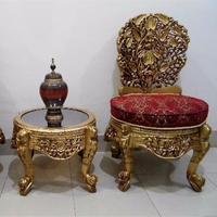 Wooden Peera Set, Chiniot Handmade Peera Set, Wooden Antique Chair Set